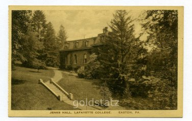 Jenks Hall Lafayette College Easton Pennsylvania postcard