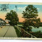 Doylestown Pike along Delaware River Easton Pennsylvania 1930 postcard