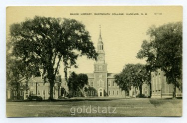 Baker Library Dartmouth College Hanover New Hampshire postcard