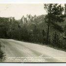View of Needles Black Hills South Dakota RPPC postcard