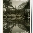 Mirror Lake Yosemite National Park California RPPC postcard