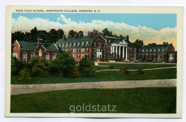 Amos Tuck School Dartmouth College Hanover New Hampshire postcard