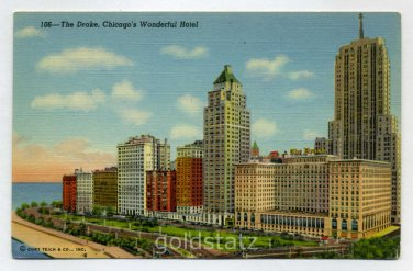 Drake Hotel Chicago Illinois postcard