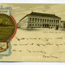 Public Library New Old South Church City Seal Boston Massachusetts Tuck 1904 postcard