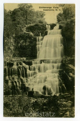 Chittenango Falls Cazenovia New York 1923 postcard