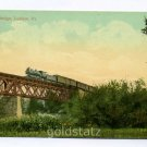Railroad Bridge at Ludlow Vermont postcard