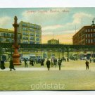 Dewey Square Boston Massachusetts 1913 postcard