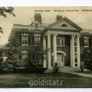 Faculty Club Wesleyan University Middletown Connecticut 1940 postcard