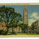 Branford Court Harkness Tower Yale University New Haven Connecticut 1949 postcard