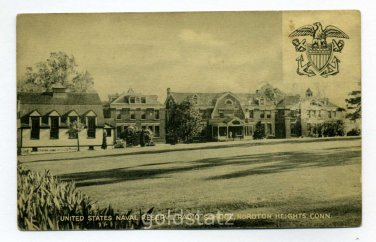 United States Naval Reserve Radio School Noroton Heights Connecticut postcard