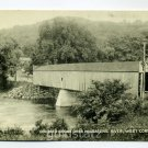 Covered Bridge Housatonic River West Cornwall Connecticut postcard