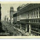 Market Street from Powell Street San Francisco California 1944 postcard