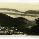 Devils Saddle New Creek Mountain West Virginia RPPC postcard
