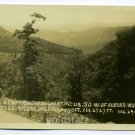 Cheat Mountain U.S. 50 Aurora West Virginia RPPC postcard