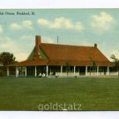 Country Club House Rockford Illinois 1909 postcard