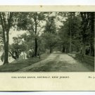 The River Drive Beverly New Jersey postcard