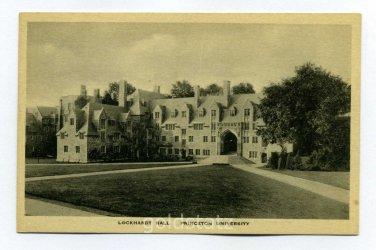 Lockhardt Hall Princeton University Princeton New Jersey postcard