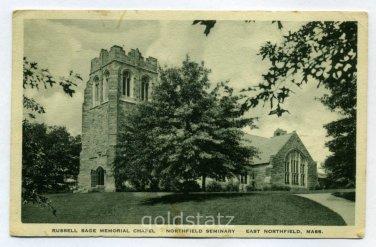 Russell Sage Memorial Chapel Northfield Seminary East Northfield Massachusetts 1937 postcard