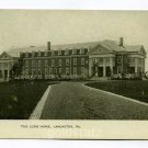 The Long Home Womens Home Lancaster Pennsylvania postcard