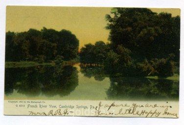 French River Venango River Cambridge Springs Pennsylvania 1907 postcard