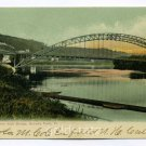 Arch Bridge Bellows Falls Vermont 1907 postcard