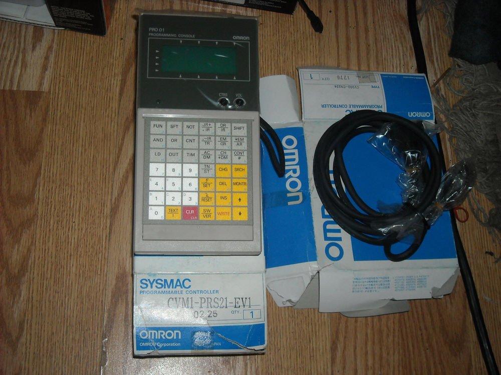 Omron programmable controller CVM1-PRO01-E Programming console cable cv500-cn224