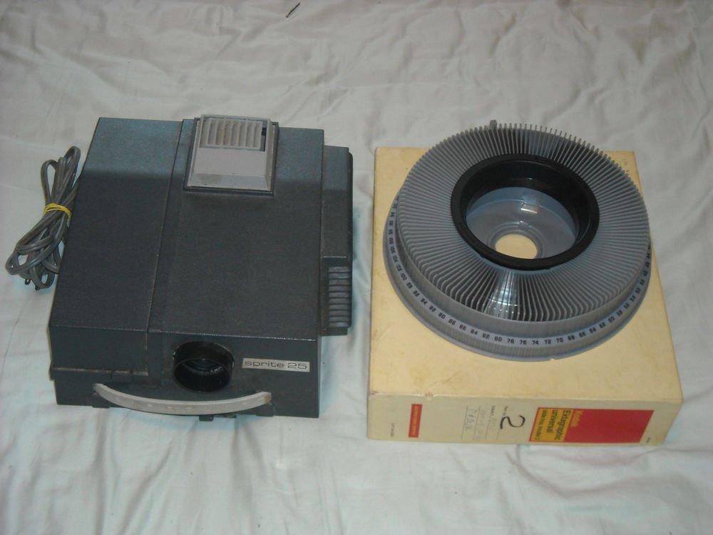 Vintage AIREQUIPT Sprite 25 35mm Slide Projector Kodak ektagraphic slide tray