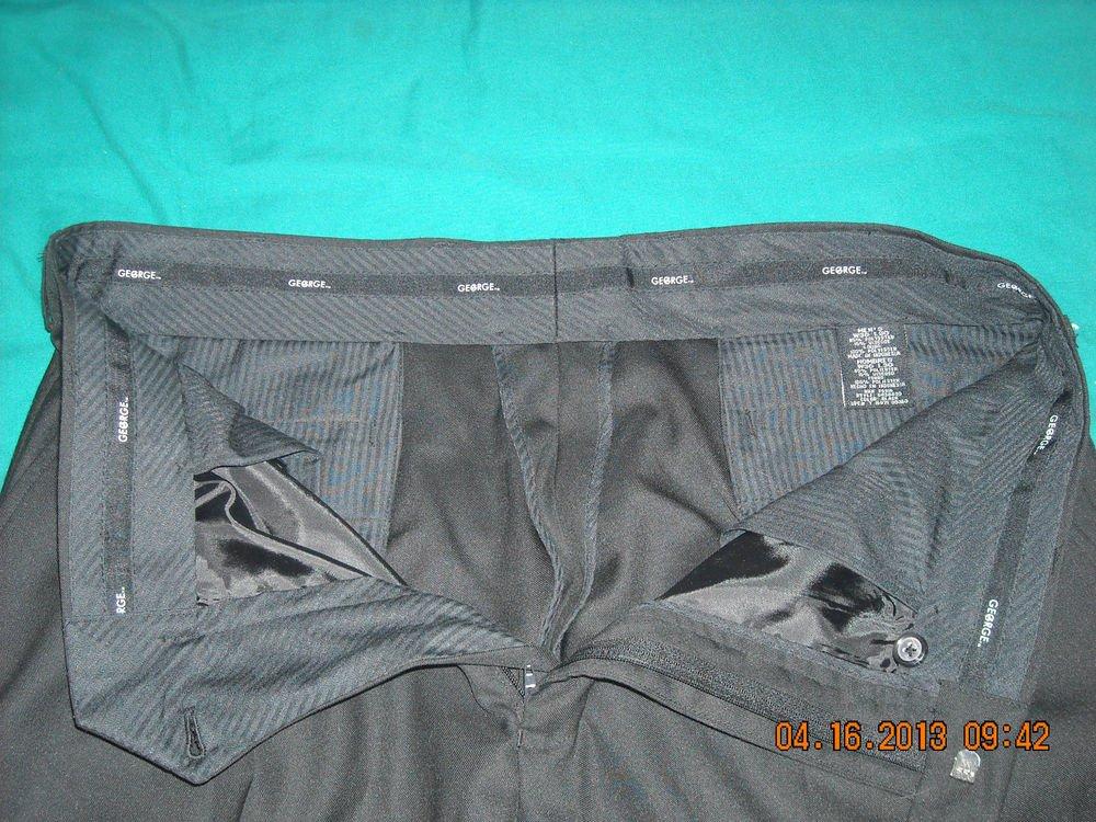 George Dress Pants ~ 36W 30L ~ Black  ~ RN 26916