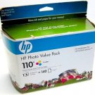 Genuine HP 110 (Q8700BN#140) More than one color/Tri-Color Ink Cartridge 12/2010