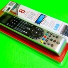 GE 8 Device Universal Remote Control  With LED Blue Backlight Pad Black/Silver