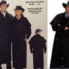 Western Express Black Cotton Denim Duster - Cowboy Men & Woman Coat -  ALL SIZES
