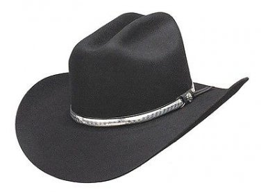 Western Men's Branson Wool Cowboy Hat Cattleman Rodeo BLACK Color - ALL SIZES