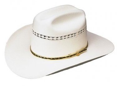 Western Stone Mountain Straw Cowboy Hat Rodeo Cattleman White Color - ALL SIZES