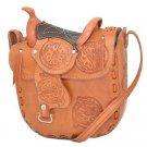 "Western Express MP-0067/NAT Leather Saddle Natural Size - 10""x9"" Purse Handbag"
