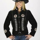 Western Express Black Suede Western Ladies Jacket Motorcycle / Bikers -ALL SIZES