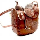 "Western Express MP-0067/CHOC Leather Saddle Chocolate Size 10""x9"" Purse Handbag"