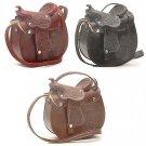 "Western ExpressLeather Saddle Style Hand-tooledPurse 8"" x 8"" Women's Handbag"