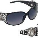 Western Cowgirl Fashion UV400 Sunglasses with Hard Case Horse Design Concho