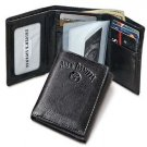 Licensed Jack Daniels Signature Collection Trifold Men's Leather Wallet BLACK