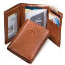 Licensed Jack Daniels Signature Collection Trifold Men's Leather Wallet BROWN