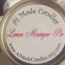 4 oz Lemon Meringue Pie Travel Tin Soy Candle in Yellow