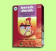 300  indonesian herb tablets bersih darah for blood impurities relief