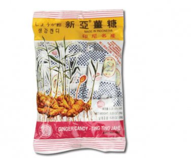Traditional Indonesian Ting Ting Jahe Sina Chewy Ginger Candy