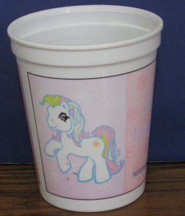 "My Little Pony G3 Plastic Cup - Pony Princess - 2003 - 4 1/4"" x 3 1/2"" - Faded"