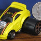 "Hot Wheels Fatbax 2004 Ford Mustang Yellow Funny Car - 2"" x 2 1/2"" - 2004"