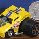 """Hot Wheels Fatbax Plymouth Barracuda Yellow Funny Car - 2"""" x 2 1/2"""" - 2004"""