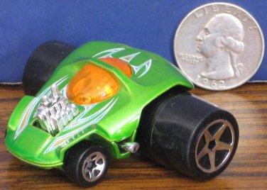 "Hot Wheels Fatbax Sillhouette Green Funny Car - 2"" x 2 1/2"" - 2004"