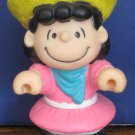 "Peanuts Lucy PVC 3"" Figure / Cake Topper - 1990s Vintage"