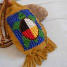 Custom Made to Order Hand Beaded Medicine Bag,