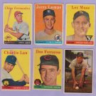 """1958 TOPPS #448 CHARLIE LAU   """"FREE SHIPPING"""""""